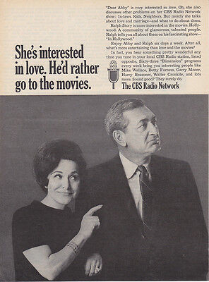1967 Dear Abby   Ralph Story Photo Cbs Radio Network Vintage Print Ad
