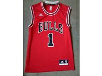 Basketball Chicago Bulls Derrick Rose 1 Jersey/Vest NBA XS Red Adidas