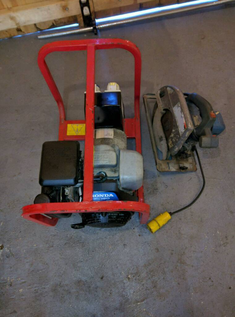 Honda petrol generater and circular saw