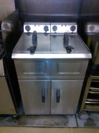 Falcon commercial double deep fat fryer