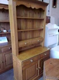 Solid pine welsh dresser. Delivery available