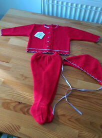 New Brand set of trousers jersey and hat. 0-3 moths