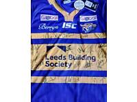 Signed Leeds rhinos rugby shirt