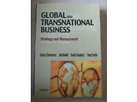 GLOBAL AND TRANSNATIONAL BUSINESS George Stonehouse, Jim Hamill. Used.