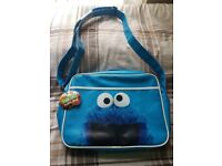SESAME STREET Cookie Monster Messenger bag Cross body flight bag Fun gift