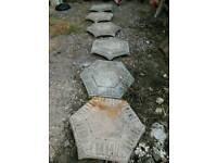 Decorative hexagon slabs