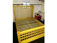 King size beech bed