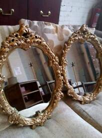 Large framed oval mirrors (x2 available)