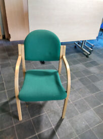 Boardroom chairs - Meeting chairs beech wood with green fabric