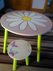 Girls table stool and storage seat