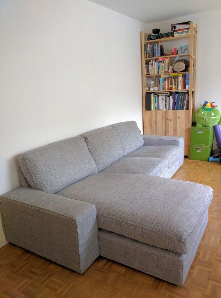 Kivik Sofa And Chaise Lounge, Isunda Grey   Must Sell!