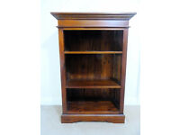 Bookcase for sale - Ancient Mariner mahogany village brand - solid mahogany throughout.