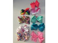 Bundle of Jojo Siwa bows, excellent condition, some on original packaging