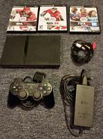 Sony PS2 console w/3 games