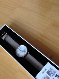 Cluse La Roche Rose Gold White Marble/Grey Watch Brand New!