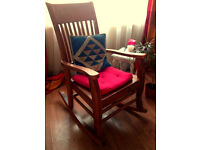 Rocking Chair Solid Pine Wood Vintage