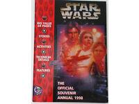 Star Wars The Official Souvenir Annual 1998.