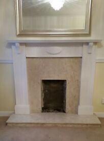 Marble fireplace and surround