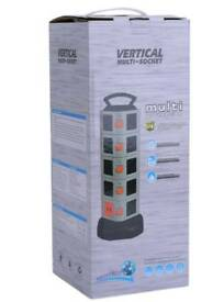 Multi Layers Vertical Tower Power Strip Extension Socket With USB Port Adapter G