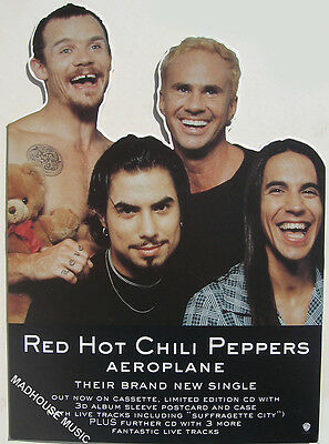 RED HOT CHILI PEPPERS DISPLAY Stand UK Promo Only COUNTERSTAND Rare MINT 16""