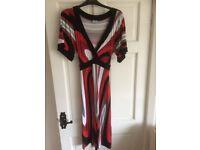 Oasis size 14 V neck dress with back tie