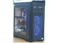 Gaming PC Computer Intel Core 2 Quad 6Ghz 8GB RAM 500GB HD Win 7 from £175 (14A)