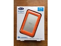 LaCie 2TB Rugged Thunderbolt & USB 3.0 Portable External Hard Drive BRAND NEW
