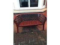 Garden bench and planter , 1yr old