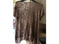 Ladies lacy look Top Size 16