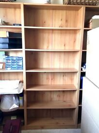 3 laminate Bookcases in very good condition