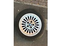 PERFECT SET - 5 WHEELS BMW STYLING 33 TURBINE WITH TYRES 225/55 16 INCH ET20