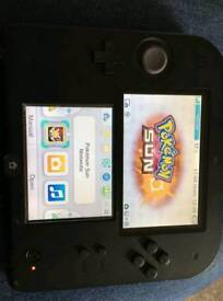 2ds with pokemon sun and pokemon diamond