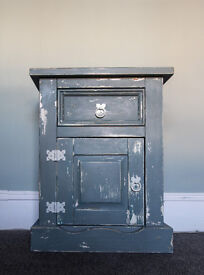 Shabby chic grey distressed Cabinet