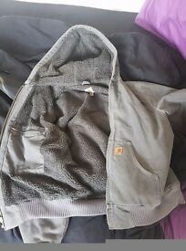 Mens Carhartt Fleece lined jacket, S/M