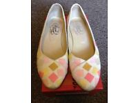 *** REDUCED FOR A QUICK SALE *** Lovely Checked Flat Shoes