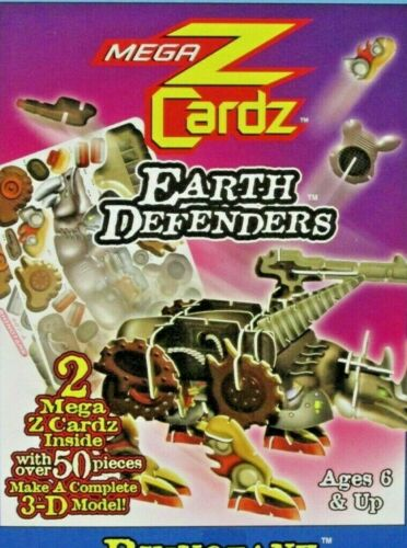 "Rhinotank Mega Z Cardz 3-D Model Kit Earth Defenders 50 pieces 6"" x 4"" NEW"