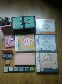 Nintendo ds console, case, charger and 13 games.