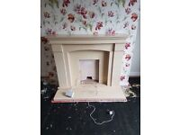 Very heavy marble fire surround and fire