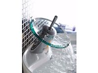 BNIB Contemporary glass topped tap with joystick unidirectional on/off lever ... POSTAGE £3