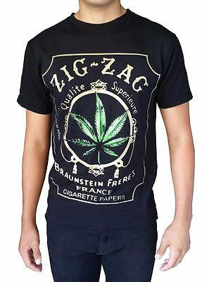 Jag Mens (New MENS PRINTED ZIG JAG CIGARETTE WEED MARIJUANA FUNNY GRAPHIC DESIGN)