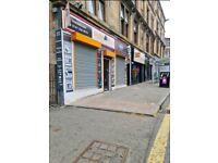 Half shop to rent byres road near university of Glasgow