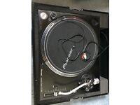 PioneerDJ PLX-1000 turntable inc rare red flightcase