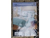 Brand New & Packaged - Dunelm 'Floral Patchwork' Embellished Bed Linen (Sage & Cream Colour)