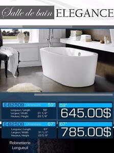 NEW free standing bathtub 14 MODELS / Bains autoportants NEUF