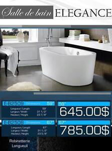 Bains autoportants NEUFS 14 Modèles / Free standing baths