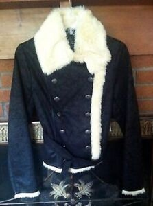 Guess Suede Jacket with Fur - Small