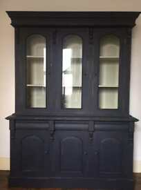 Vintage cabinet bookcase display cabinet
