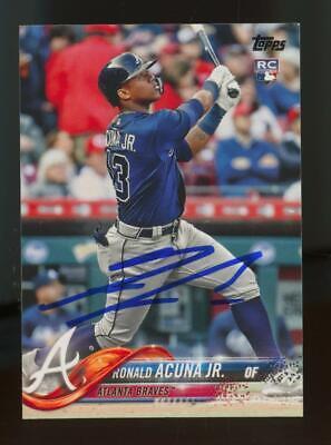 2018 Topps #698 Ronald Acuna Jr Auto Autograph RC Rookie BGS/BAS Beckett
