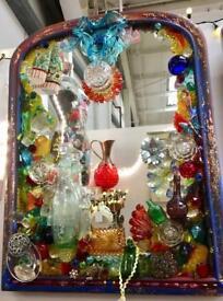 Bottle mirror. CHRISTCHURCH