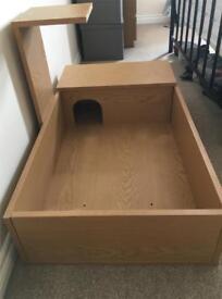 Used Monkfield Oak Tortoise Table